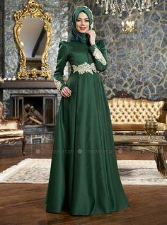 Azra Evening Dress - Emerald - Mevra