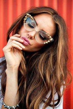 Love these glasses! #cateye #spikes