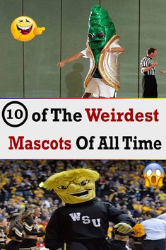 10 Of The #Weirdest #Mascots Of All Time Funny Jokes, Hilarious, Team Mascots, Picture Story, Weird Stories, Weird Pictures, Just Don, Weird Facts, All About Time