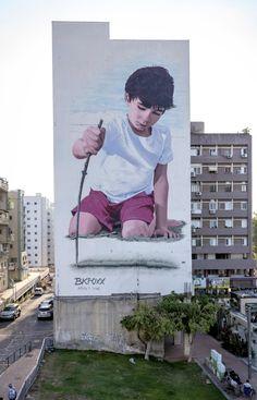 """Lines"" freehand spray in hadera israel #bkfoxx"