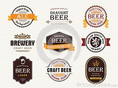 Beer seals and stamps by Outline205, via Dreamstime