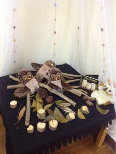 For the love of reading- sticks and owls for story retell