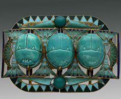 Piel Freres  – Egyptian Revival Scarab Buckle  Belle Epoque Period