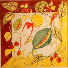 Patrick Heron Drawing for Melon 1934. Heron was a textile designer.