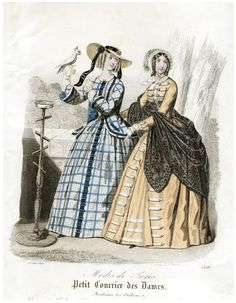 Victorian fashion plate 1848.