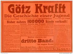 Original-Werbung / Anzeige 1905 - ROMAN VON EDWARD STILGEBAUER : GÖTZ KRAFFT -  ca. 180 x 125 mm
