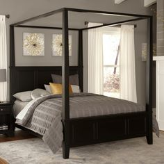 Home Styles Bedford Canopy Bed & Reviews   Wayfair.com $550