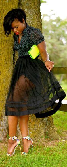 Sheer Skirt - not that cheap clutch tho
