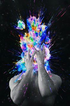 Brain explode psychedelic