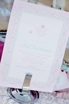 ♔ A Little Girls Beach Themed Tea Party {Invite}