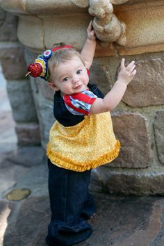 Snow white inspired ruffle pants and tunic! Love this! Another idea for how to dress 'Princess' w/o fighting w the big dress