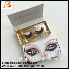 fec2363ad11 Source Qingdao Supplier Wholesale Custom Logo Paper Cardboard Private Label  False Eyelash Packaging Box on m.alibaba.com