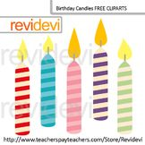 FREE Clip art Birthday Candles by Revidevi
