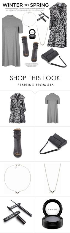 """""""Winter to Spring Layers"""" by littlehjewelry ❤ liked on Polyvore featuring Moschino Cheap & Chic, Topshop, Kristin Cavallari, Chay, MAC Cosmetics, contestentry, layering, pearljewelry, Wintertospring and littlehjewelry"""