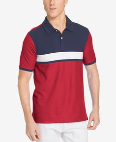 274a1f8bdba09 Izod Men s Colorblocked Pique Polo I like that! Polo Online, Men Online,  Casual