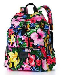 Victoria's Secret PINK School Handbag Backpack Book Bag Tote- Tropical Floral  - Click image twice for more info - See a larger selection of school backpacks at http://kidsbackpackstore.com/product-category/school-backpacks/ - kids, kids backpack, school backpack, everyday backpack, school bag, gift ideas, teens backpacks.