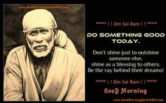 Sai Baba Good Morning SMS - Sai Blessings Quotes, Wishes, Message Images, Wallpapers, Photos, Pictures Download