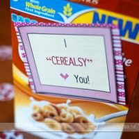 im so sending him cereal next care package JUST so i can do this! he loves cereal