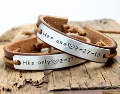Personalized Couple Bracelets His and her by BraceletBracelet - mens diamond jewelry, mens bracelet jewelry, bracelets mens jewelry