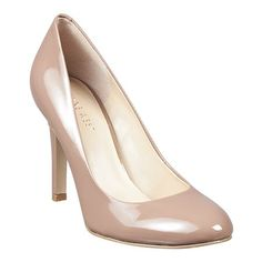"""Classic round toe pump. 3 1/2"""" heel.  Due to the nature of this style, the pitch may cause your foot to slide forward. We are including a pair of insoles with your purchase to adjust the fit to your foot, if needed."""