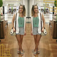 #lategram #dodia para os eventos de quinta! Créditos na foto ✌  #lookdodia #look #fashionblogger #blogueirasdeniteroi #blogger #ootd #wiwt #dujour #itblogs #blog #blogueirascariocas #helenabordonparaleader #leader #renner #acessórios #johnbags #sollas #short #coleteoversized #turquesa #style #fuiassim