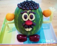 Slice into Summer: 8 Imaginative Watermelon Carvings, easy enough to turn into a character