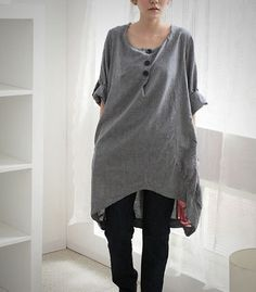Simple loose linen shirt