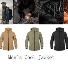 ChArmkpR Men Tactical Military Winter Fleece Hooded Outdoor Jacket at Banggood