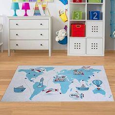 Paco Home Kinderteppich Kinderzimmer Herzen Regenbogen Einhorn Konturenschnitt Beige Wei/ß Gr/össe:120x170 cm