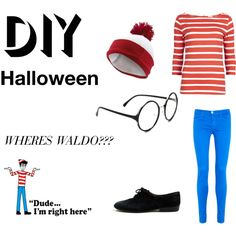 """""""DIY Halloween Costume - Wheres Waldo?"""" by iamthedoctor1 on Polyvore"""