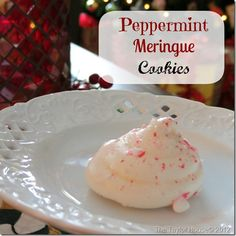 20 Days of Christmas Cookies/Treats.  Day 16: Peppermint Meringue Cookies