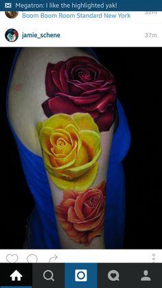 Rose Tattoos, Flower Tattoos, Body Art Tattoos, Great Tattoos, New Tattoos, Awesome Tattoos, Tatoos, Girls With Sleeve Tattoos, Tattoos For Women