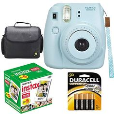 Fujifilm Instax Mini 8 Instant Film Camera (Blue) With Fujifilm Instax Mini 5 Pack Instant Film (50 Shots) + Compact Bag Case + Batteries Top Kit Fujifilm http://www.amazon.com/dp/B00OPD5XR8/ref=cm_sw_r_pi_dp_9Z82ub0Q3D8C0
