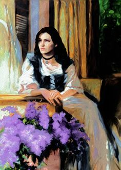 Yennefer oil painting for the mod Lore Friendly Paintings for Corvo Bianco Witcher 3 Yennefer, Witcher 3 Art, Geralt And Ciri, The Witcher Game, The Witcher Books, Yennefer Of Vengerberg, Pop Art Wallpaper, The Empress, Wild Hunt