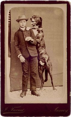 Training Your Dog With A Few Key Tips. Dogs are a special animal that bring a lot of joy into lives. However, training your puppy can require a lot of hard work. Antique Photos, Vintage Pictures, Vintage Photographs, Old Pictures, Dogs And Kids, Animals For Kids, Animals And Pets, Photos With Dog, Vintage Dog