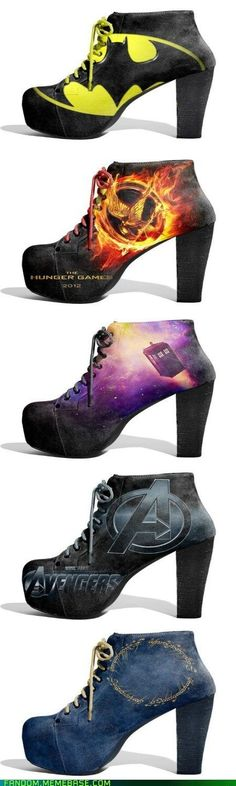 These Shoes Were Made for Fandom - I want them all!