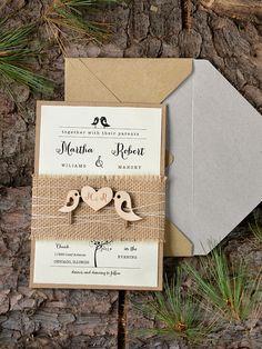 Rustic wedding invites from @4LOVEPolkaDots