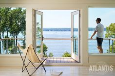 The Spectrum Cable Railing System is an ultra-sleek easy to use cable guard rail system. Available in fascia mounted or surface mounted formats and utilizing HandiSwage™ cable infill options. It is designed for use with a customer supplied hardwood top railing. Universal posts are used for corners, ends, and mids, allowing for a truly off-the-shelf guard rail solution. #CableRailing #CableRailingSystem #Railing #AtlantisRail #AtlantisRailing #stainlesssteelcable #SpectrumCableRailing… Glass Railing System, Cable Railing Systems, Led Light Bars, Led Light Strips, Cable Grommet, Stainless Steel Gate, Flexible Led Light, Hardwood Decking, Enclosed Porches