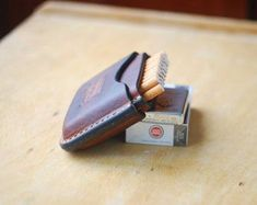 Leather cigarette case cigarette holder Gifts by ArtLeatherDesign