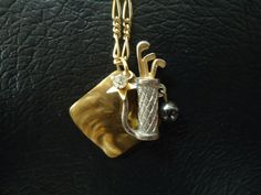 A Vintage Layered Golf Charm Necklace by behressentials on Etsy, $42.00