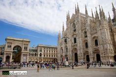 The Duomo, Galleria Vittorio Emanuele II and Piazza del Duomo, Milan, Italy
