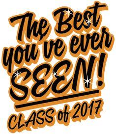 Class of 2017. Senior class custom t-shirts. T-Shirt Design - Wish Slogan (cool-146w2)