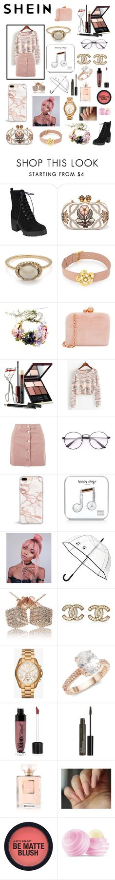 """Pink is my calming color"" by jessica-jude17 ❤ liked on Polyvore featuring Alexander McQueen, Henri Bendel, Sophia Webster, Kevyn Aucoin, Topshop, Happy Plugs, Kate Spade, Chanel, Michael Kors and Saks Fifth Avenue"