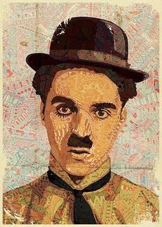 Chaplin by Luis Alves. Leo Lionni, Clown Pics, Charles Spencer Chaplin, Celebrity Caricatures, Pencil Art Drawings, Acrylic Colors, E Design, Graphic Design, Face Art