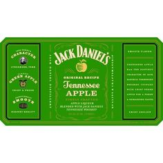 Apple and Jack what a combo. A new item to add to Jack Daniel's Family of Brands. Serve chilled or sounds delightful with a splash of real ginger ale. New Jack, Jack And Jack, Apple Whiskey, Jack Green, Whiskey Drinks, Tennessee Whiskey, Fresh Apples, Jack Daniels Whiskey, Ginger Ale
