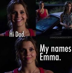 "The Lying Game. This was probably my favorite part of the whole series. I'm so glad they showed us Emma meeting her dad ""officially"" before it got cancelled (Alexandra Chando) Family Show, Abc Family, Tv Quotes, Movie Quotes, My Favorite Part, Favorite Tv Shows, Movies Showing, Movies And Tv Shows, Alexandra Chando"