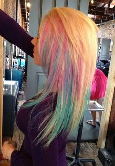 pastle pink and blue undertoned hair colors...I have wanted this forever!