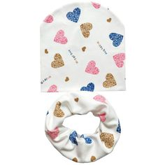 91e140351b5 Baby Hat Infant Caps Cotton Scarf Baby Beanies Love Heart Print Spring  Autumn Children Hat Scarf Set Baby Girls Hats Photo Props