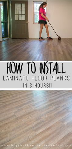 How to install Laminate flooring! It's easy to install and so durable. You'll never believe how it looks! Pop over to get all the details!
