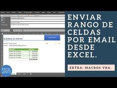 (533) Enviar rango de celdas por email a varios destinatarios desde Excel @EXCELeINFO - YouTube